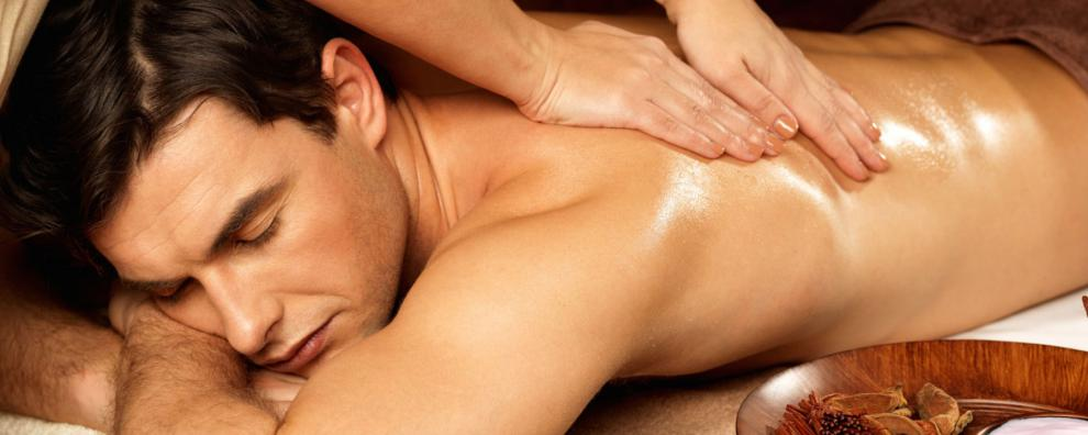 Wellness-Massage für den Mann